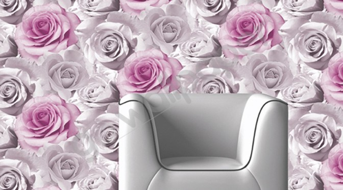 Muriva Madison Rose Floral Bloom Wallpaper – Pink