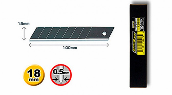 Olfa Cutters Heavy Duty Excel Black Blades 18mm