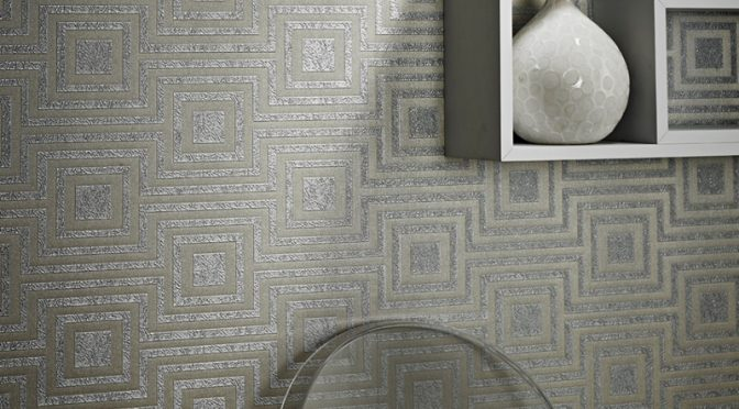 Arthouse Modena Geometric Wallpaper – Silver