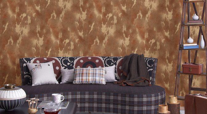 Vymura Cowhide Wallpaper in Ayreshire Tan