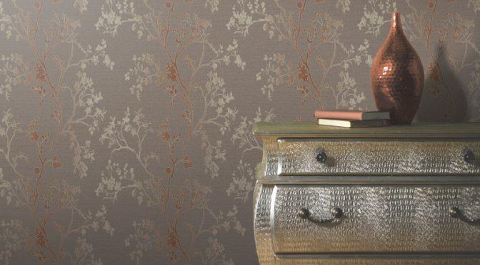 Arthouse Orabella Tree Glitter Wallpaper – Copper