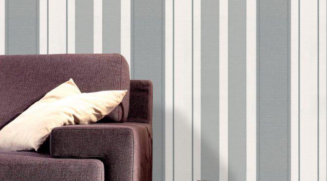 Belgravia Decor Lazio Stripe Glitter Wallpaper – Silver