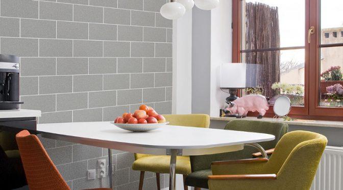 Crown London Glitter Tile Wallpaper – Grey