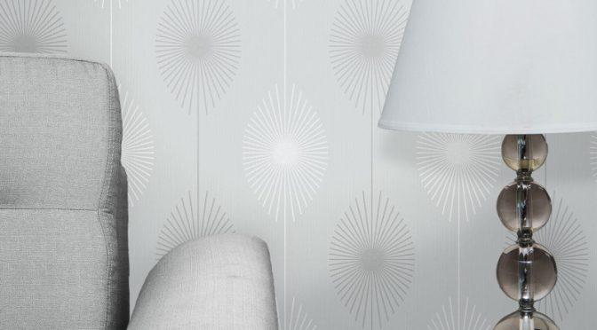 Fine Decor Starburst Glitter Wallpaper – Grey
