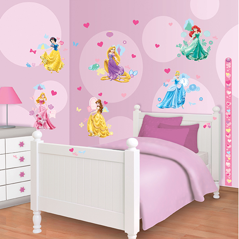 Walltastic disney princess room decor kit for Princess bedroom decor