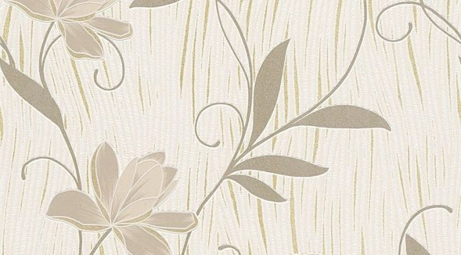 AS Creation Lotus Floral Gold Glitter Wallpaper – Special Designs
