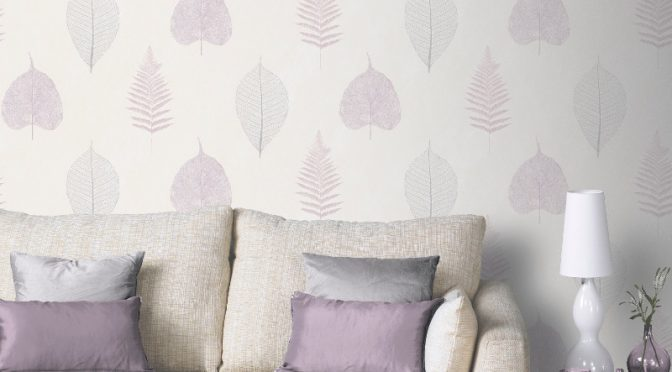 Arthouse Opera Thea Leaf and Tree Wallpaper – Heather