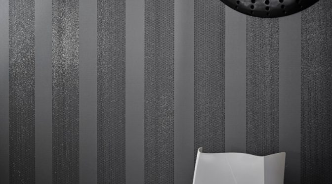 Arthouse Selina Stripe Glitter Wallpaper in Gunmetal