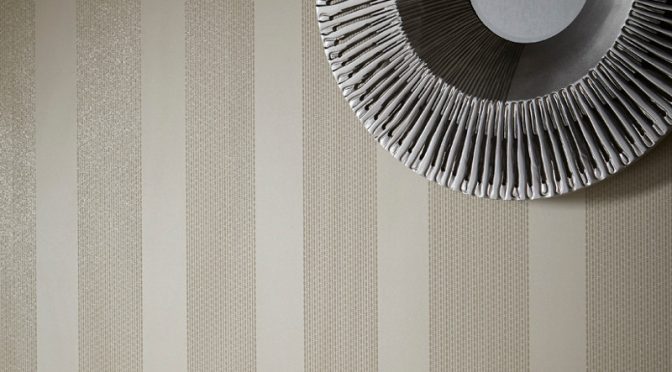 Introducing Arthouse Selina Stripe Glitter Wallpaper in Pearl
