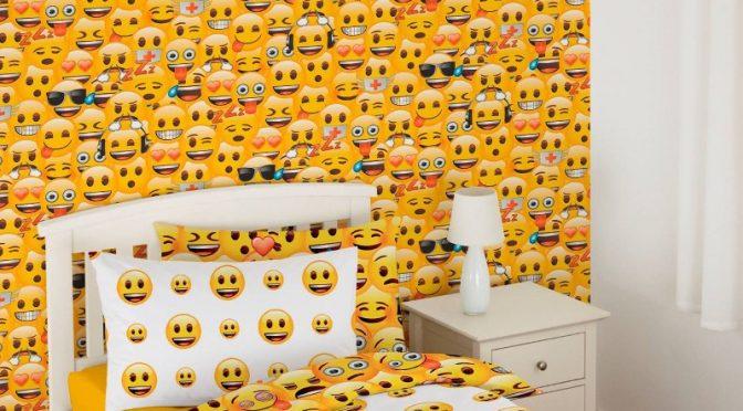 Emoji Wallpaper in Multi by Debona Adding Bursts of Colour