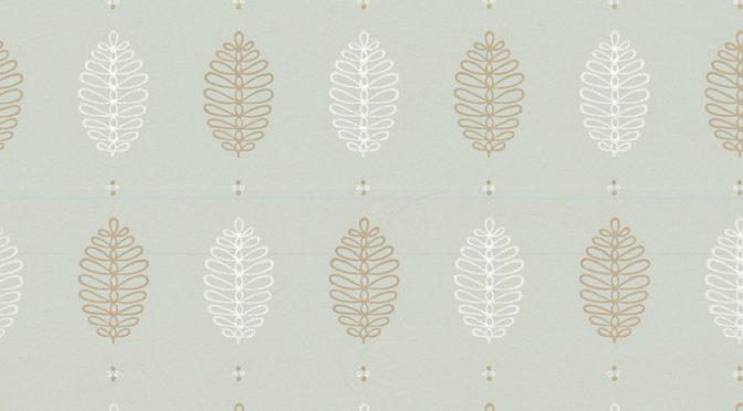 Little Greene Cones Wallpaper in Daybreak – Retro Designs