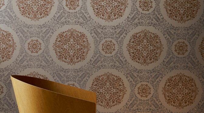 Arthouse Timour Glitter Wallpaper in Copper Colour