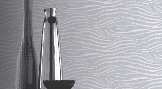 Arthouse Serengeti Nights Zebra Silver Wallpaper