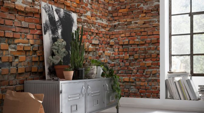 Komar Bricklane Wall Mural – Easy To Hang Wall panels