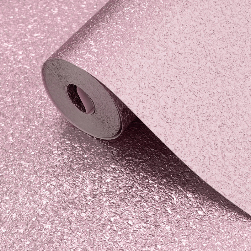 Muriva Sparkle Wallpaper Bronze: Muriva Shimmer Pink Metallic Glitter Wallpaper