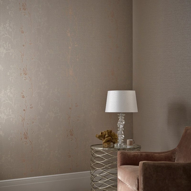 Arthouse Orabella Tree Glitter Wallpaper In Rose Gold