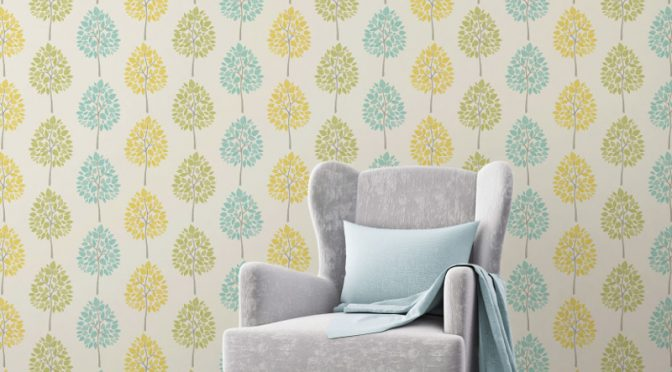 Fine Decor Tree Green Teal Wallpaper – Riva Collection