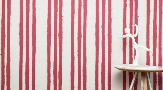 PaperBoy Stripes Stone Red Wallpaper – Urban Styling