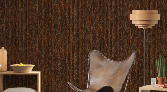 AS Creation Leaf Branch Brown Wallpaper