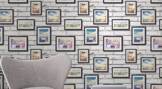 Fine Decor Novelty Frames Multi Wallpaper
