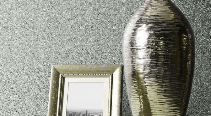 Muriva Amelia Texture Duck Egg Metallic Wallpaper