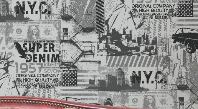 Muriva Liberty Silver Wallpaper