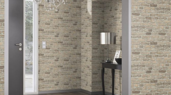 Erismann House Brick Sand Wallpaper