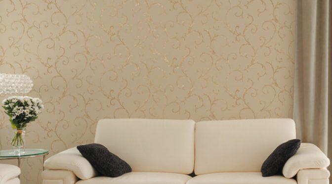Muriva Acanthus Scroll Beige Wallpaper