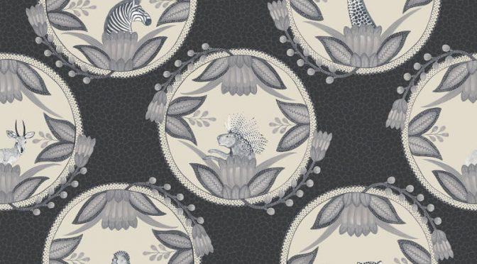 Cole & Son Ardmore Cameos Black/White Wallpaper