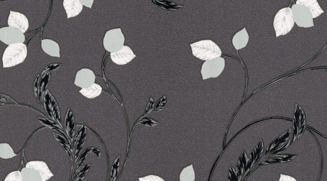 Erismann Shimmer Floral Black Glitter Wallpaper