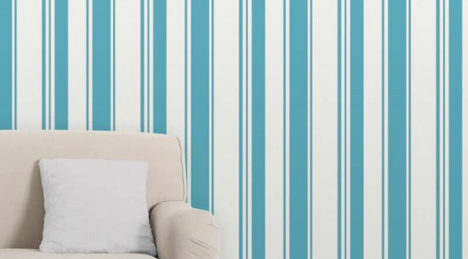 Fine Decor Isobelle Stripe Teal/Silver Wallpaper