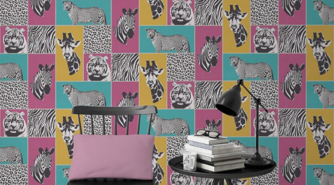 Fine Decor Novelty Safari Animal Multi Wallpaper