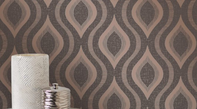 Fine Decor Quartz Geo Bronze Glitter Wallpaper