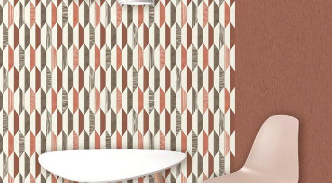 Muriva Marcus Geo Red Wallpaper