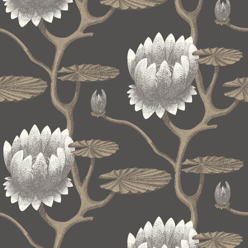 summer lily black wallpaper being creative with cole son