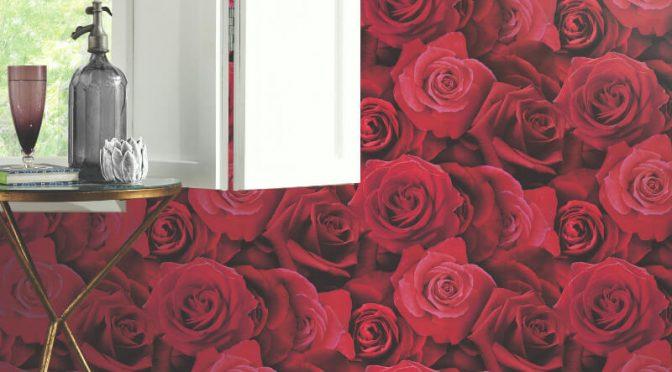 Arthouse Austin Rose Red Wallpaper