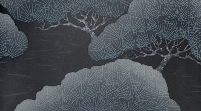Little Greene Pines Wallpaper in Ash Pine