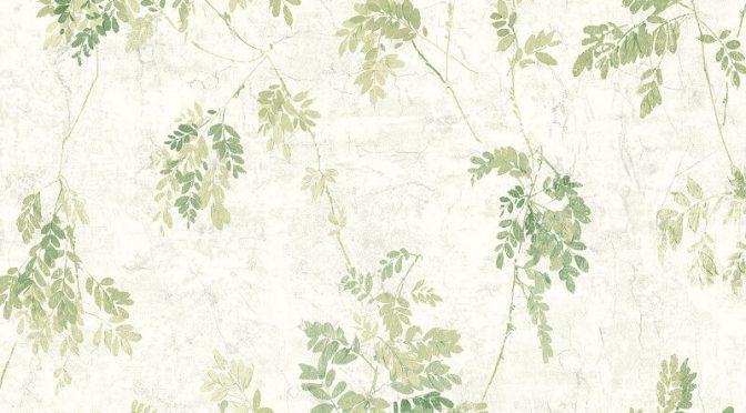 Nina Hancock Leaves Green Wallpaper