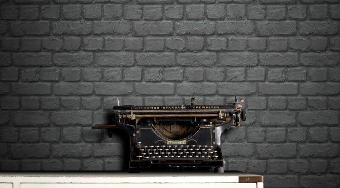 Rasch Brick Effect Black Wallpaper