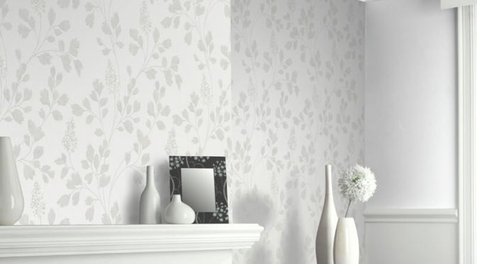 Catalina Silver Leaf Glitter Wallpaper – Arthouse Katarina Collection
