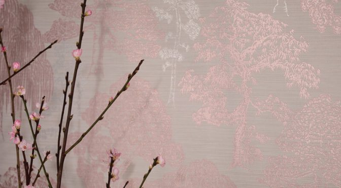 Arthouse Meili Trees Rose Gold Wallpaper