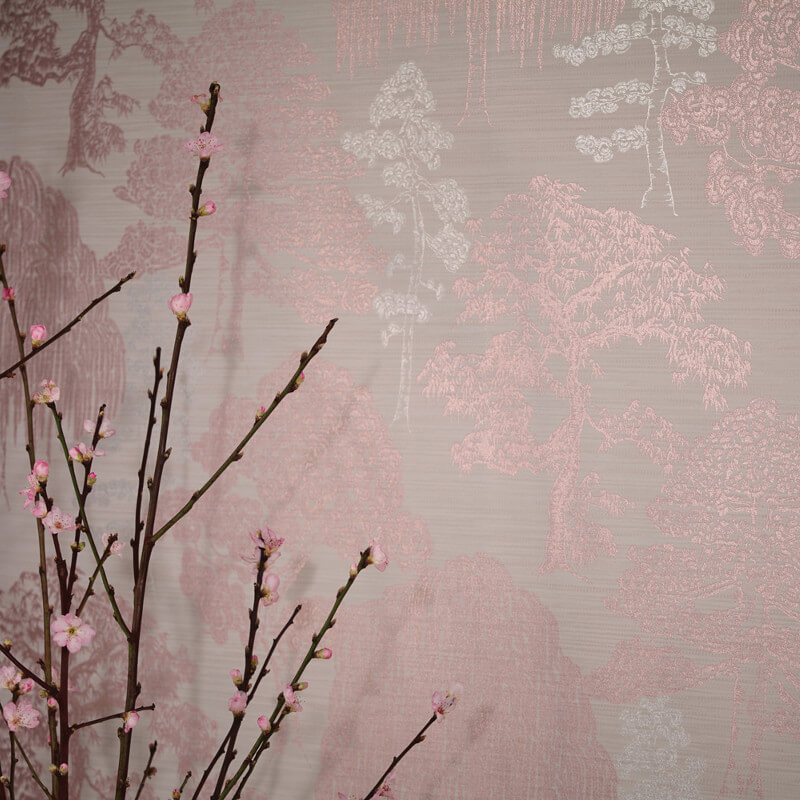 Arthouse Meili Trees Rose Gold Wallpaper - Eastern Alchemy Collection