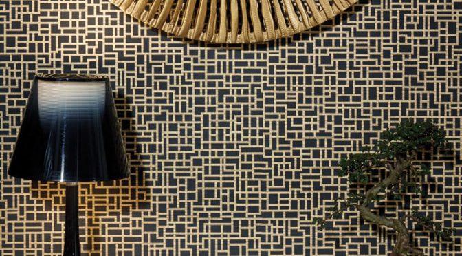 Arthouse Satoni Geo Black/Gold Wallpaper