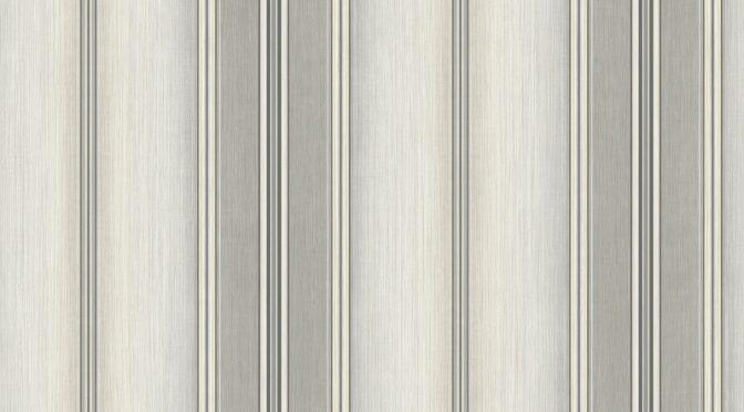 Nina Hancock Stripe Grey/Beige Wallpaper