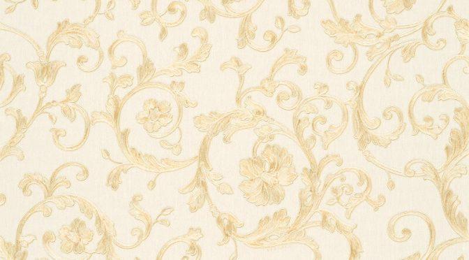Versace Barocco Floral White/Beige Glitter Wallpaper