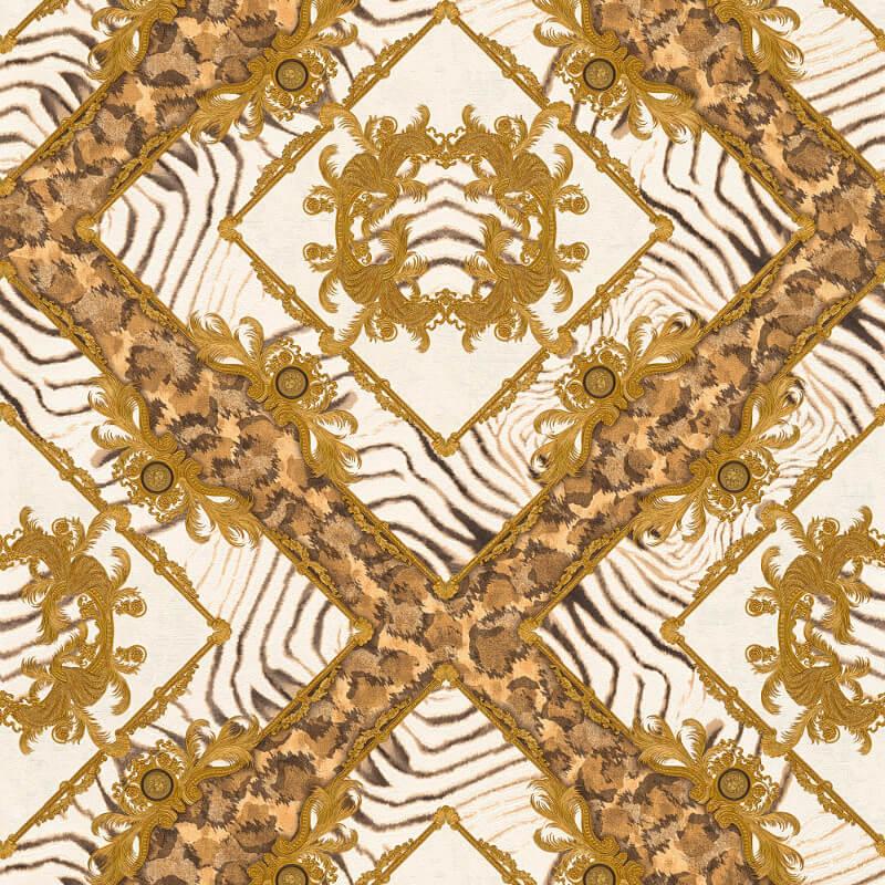 Zebra Ornament Brown M...