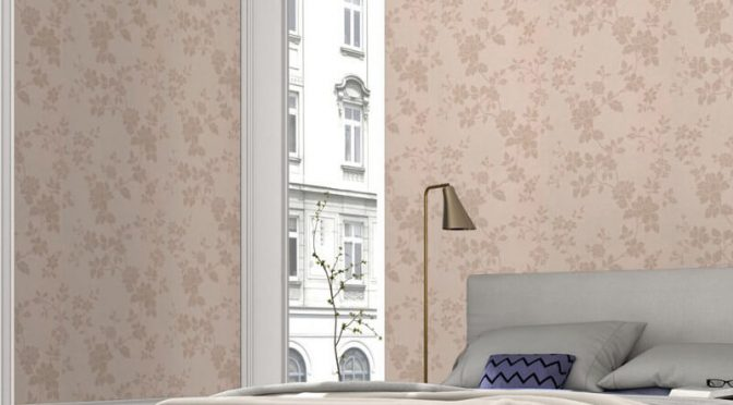 Erismann Cassiopeia Floral Taupe Wallpaper