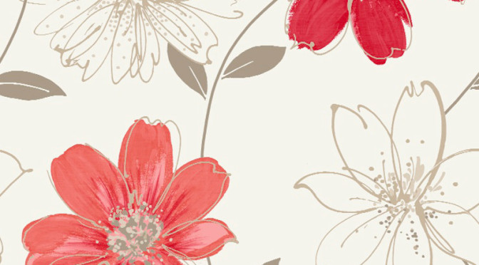 Arthouse Samba Motif Wallpaper – Red and Gold