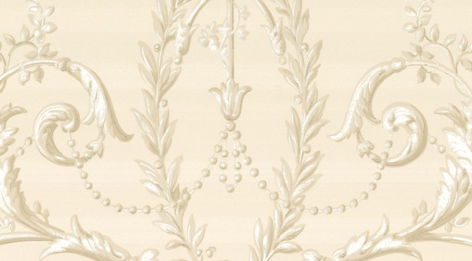 Little Greene Versailles Wallpaper- Dark Pearl