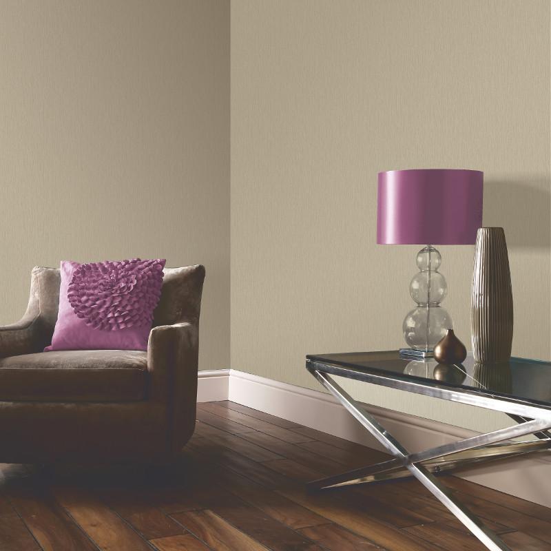 Arthouse samba plain wallpaper in taupe for Taupe wallpaper living room
